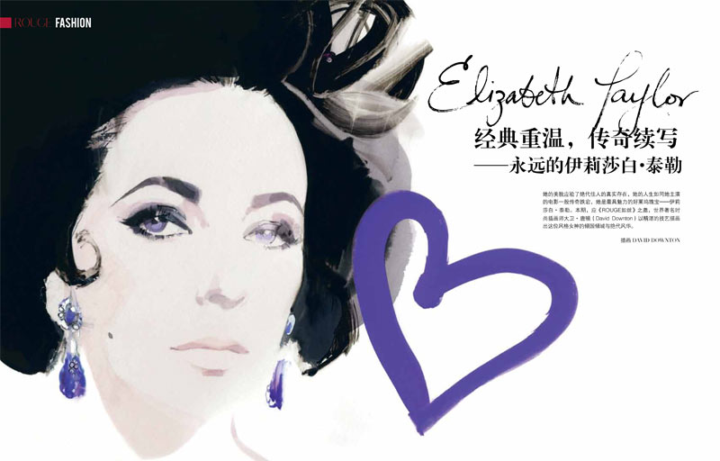 ELIZABETH TAYLOR by DAVID DOWNTON