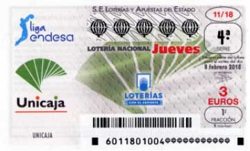 decimos de loteria nacional dedicados al Unicaja