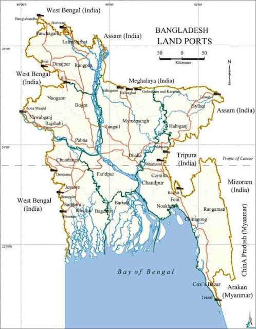 List of Land ports of Bangladesh