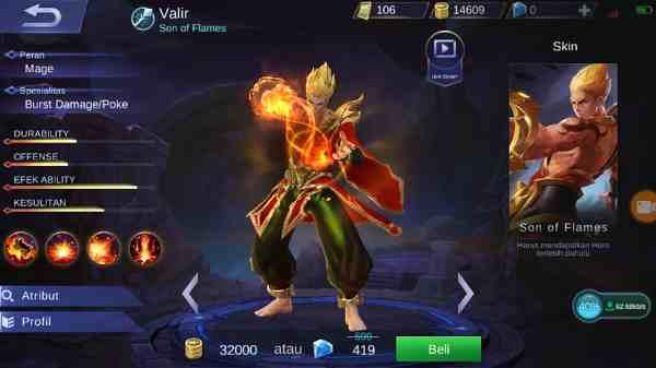 Hero Valir Mobile Legend, Mage Yang Akan Menjadi Sasaran Nerf dan Ban Selanjutnya