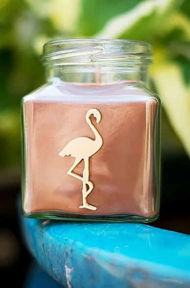 flamingo candles jamican cafe and walnut