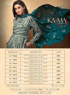 Karma Trendz tucute vol 19 kurtis wholesaler