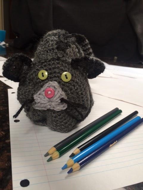 Cat Ears Closed Eyes Pencil Case
