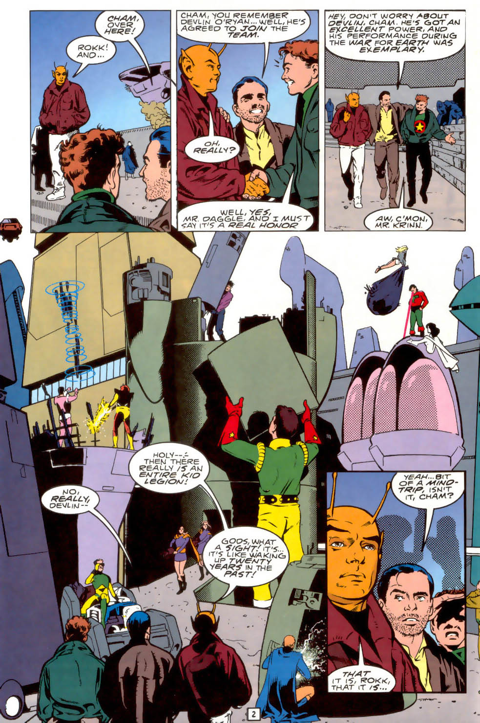 Legion of Super-Heroes (1989) 40 Page 2