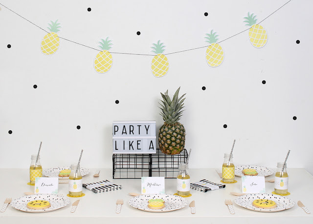 Nina designs parties fiestas pi a party - Decoracion con pina ...