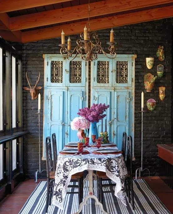 Dishfunctional designs new looks for old salvaged doors more ornate salvaged doors painted a bright color add interest and texture to a room planetlyrics Image collections