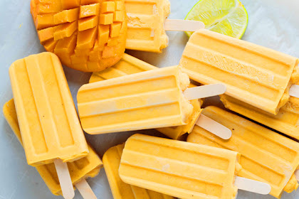 Healthy Vegan Mango Lassi Popsicles Recipe