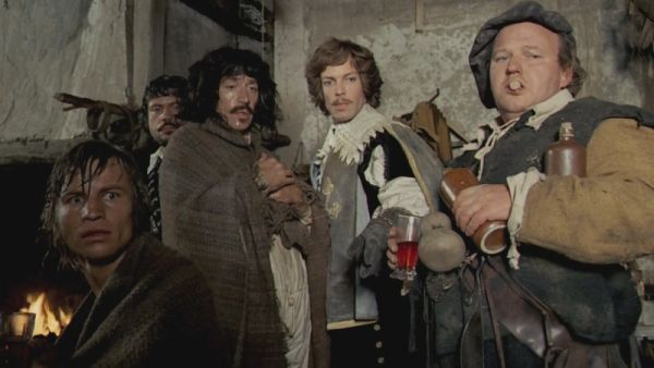Michael York, Oliver Reed, Frank Finlay, Richard Chamberlain and Roy Kinnear