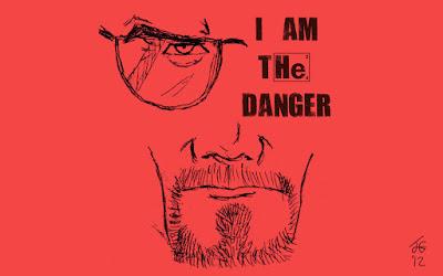 Breaking Bad/Walter White. Fuente: http://kingjoeg.deviantart.com/art/Breaking-Bad-I-am-the-danger-328002796