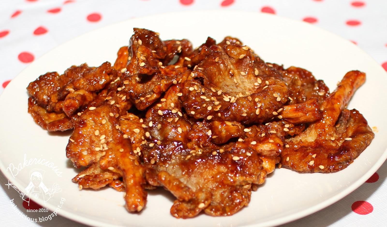 Bakericious: Fried Oyster Mushroom with Sweet Sauce
