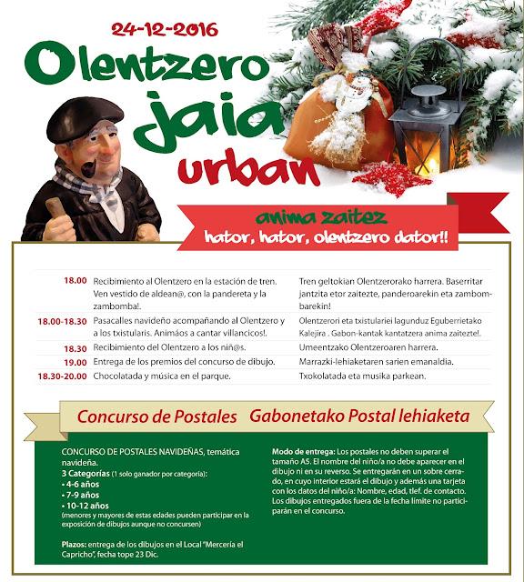 Cartel de las actividades de Olentzero en Desierto
