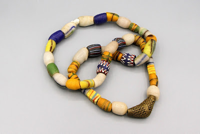 067c841d64 Vintage African Beads Collection arranged as a Necklace