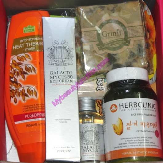 Memebox Whole Grain special beauty box review, unboxing and three-box giveaway