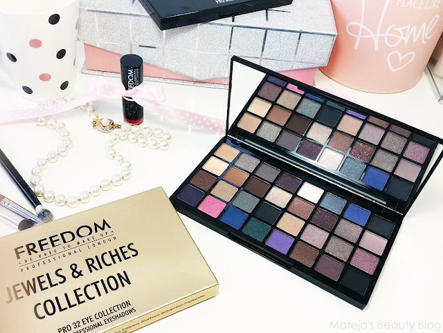 Freedom Makeup Jewels and Riches Collection Pro 32 Eye Palette