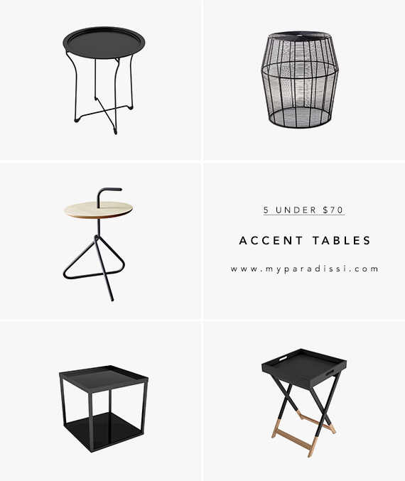 5 UNDER $70: Modern Accent Tables | My Paradissi