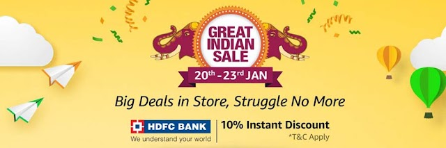 Amazon Great Indian Sale announced, starts January 20: Smart TV at half price, huge discounts on mobile