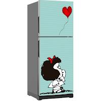 Decora con vinilos la nevera - Mafalda