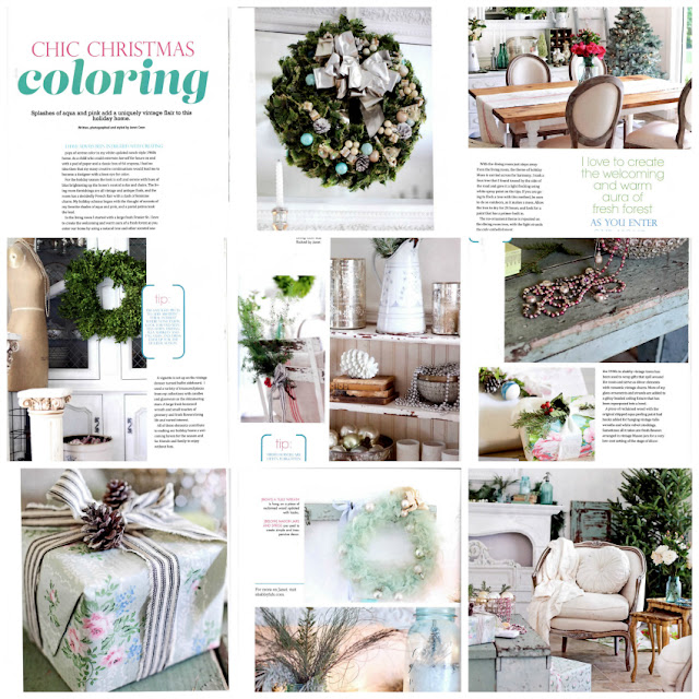romantic decorating looks for Christmas - published holiday designs from Shabbyfufu