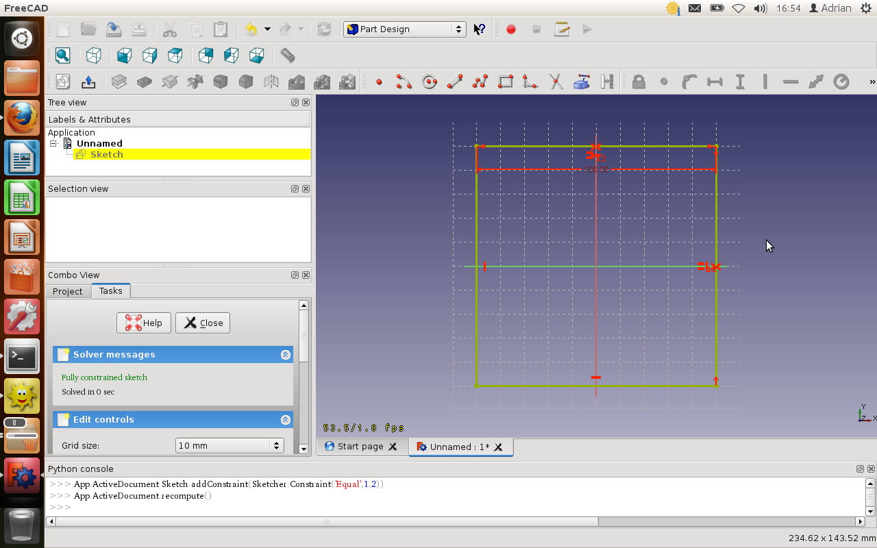 FreeCAD tutorial: 2012