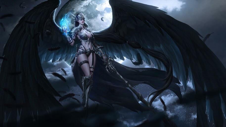 Fantasy, Angel, Wings, Warrior, 4K, #4.982