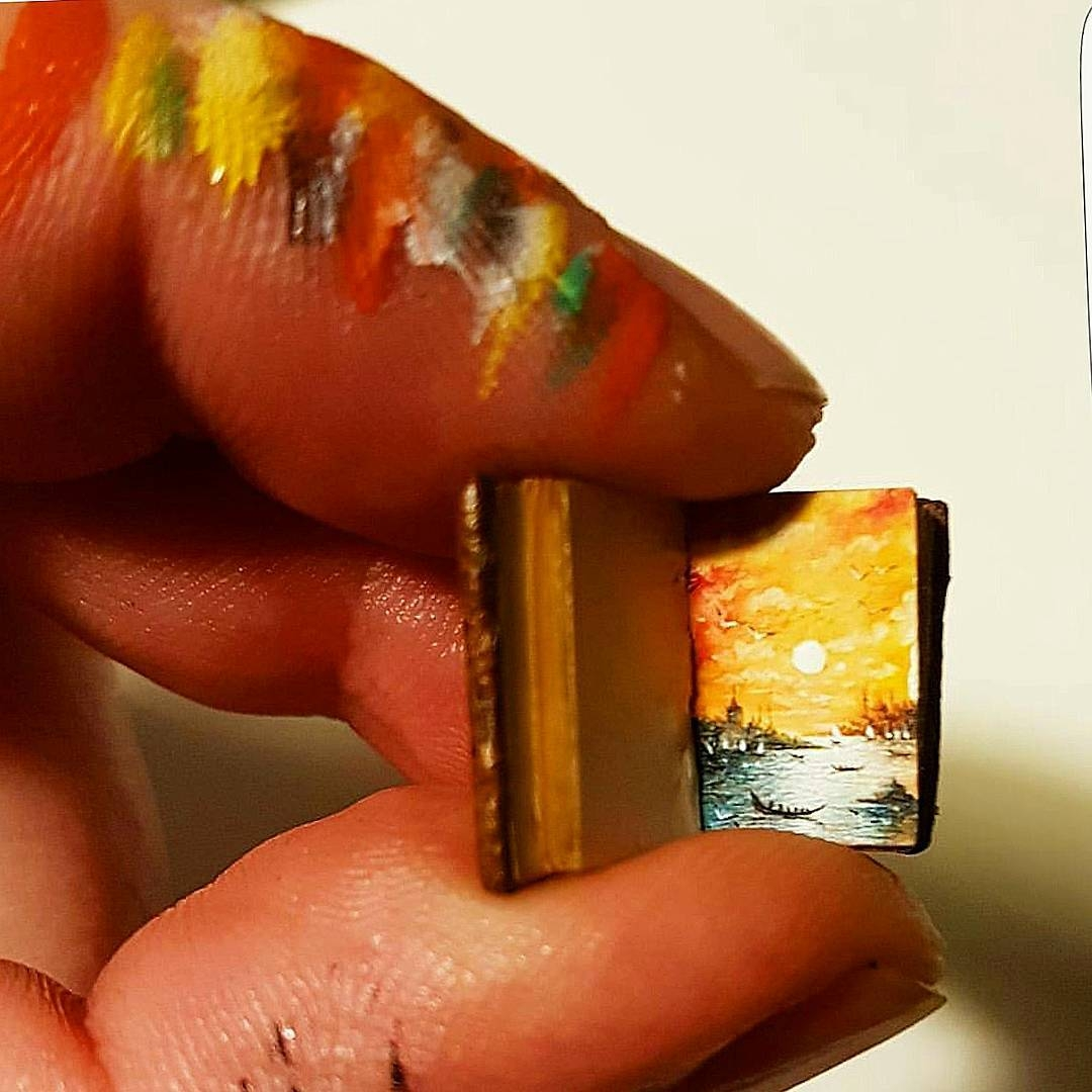 01-Book-Hasan-Kale-Micro-Tiny-Paintings-with-Unusual-Canvases-www-designstack-co