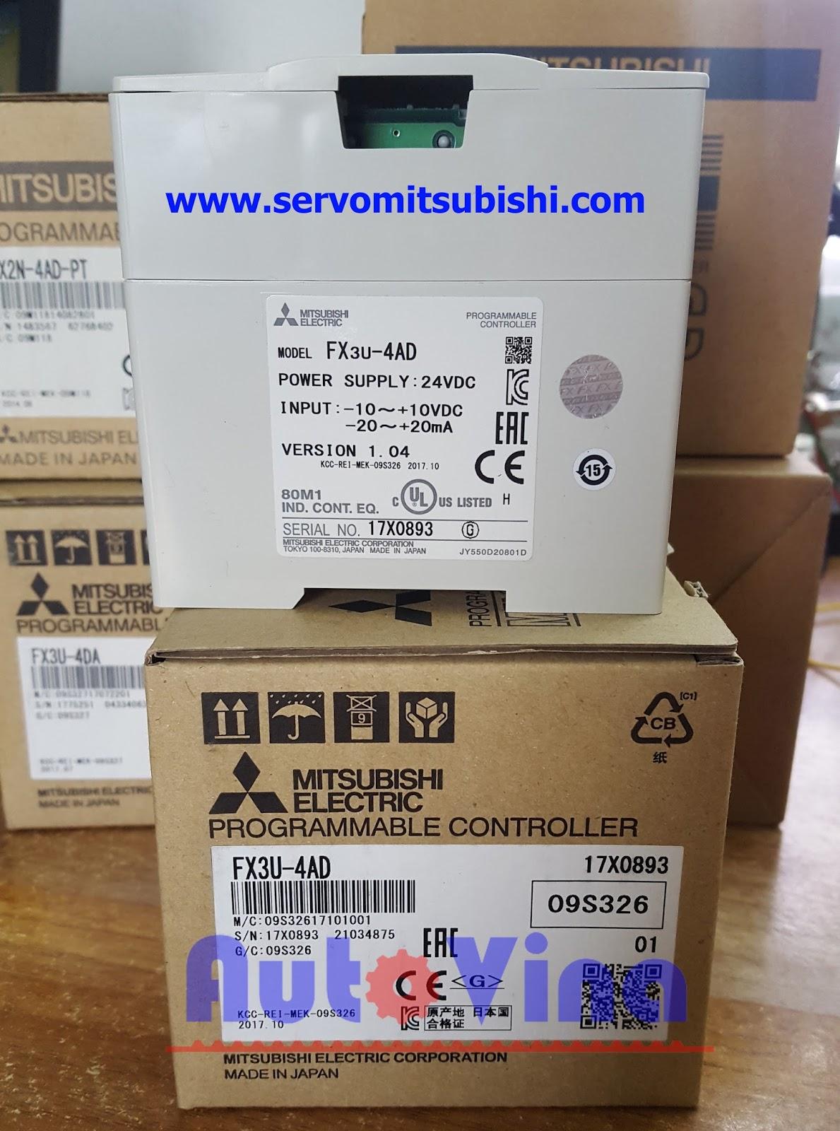 Module chuyển đối tín hiệu analog ngõ vào cho PLC Mitsubishi FX3U-2DA