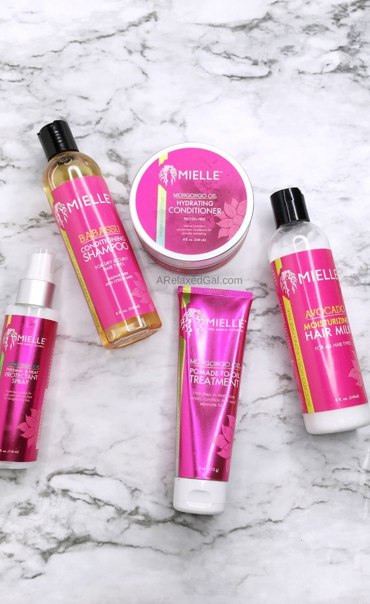 Relaxed hair wash day with Mielle Organics | A Relaxed Gal