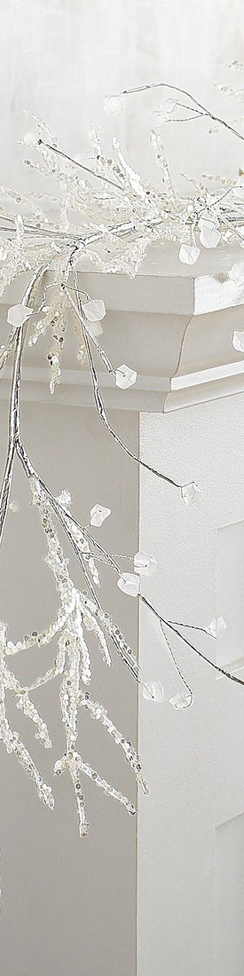 Pier One Sparkling Ice Beaded 6' Garland