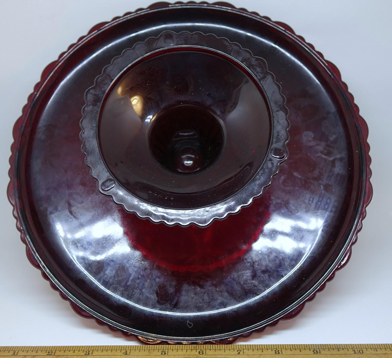 Avon Cape Cod Red Cake Plate