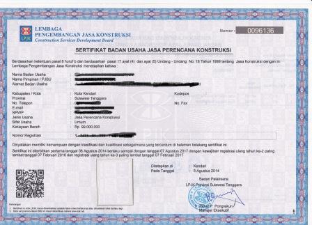 Pengertian Sertifikat Badan Usaha (SBU) Dan Syarat Pembuatannya