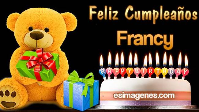 Feliz Cumpleaños Francy