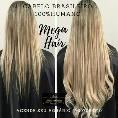 colocação de mega hair