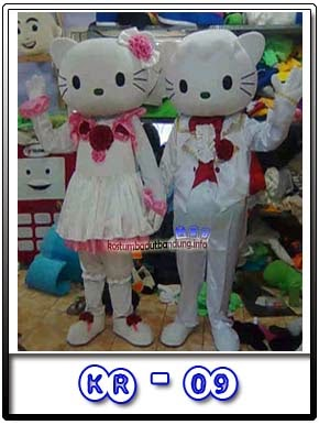 gambar badut hello kitty kostum wedding 2016