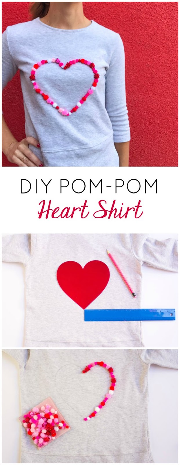 Make this no-sew heart shirt for Valentine's Day - or any day!