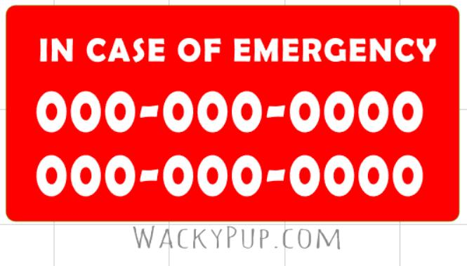 Emergency Sticker