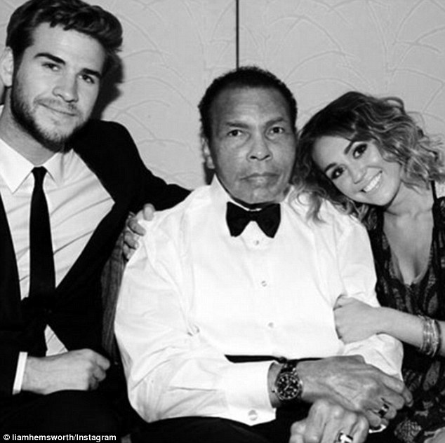 Liam Hemsworth posts picture with Miley Cyrus, pays tribute to Muhammad Ali