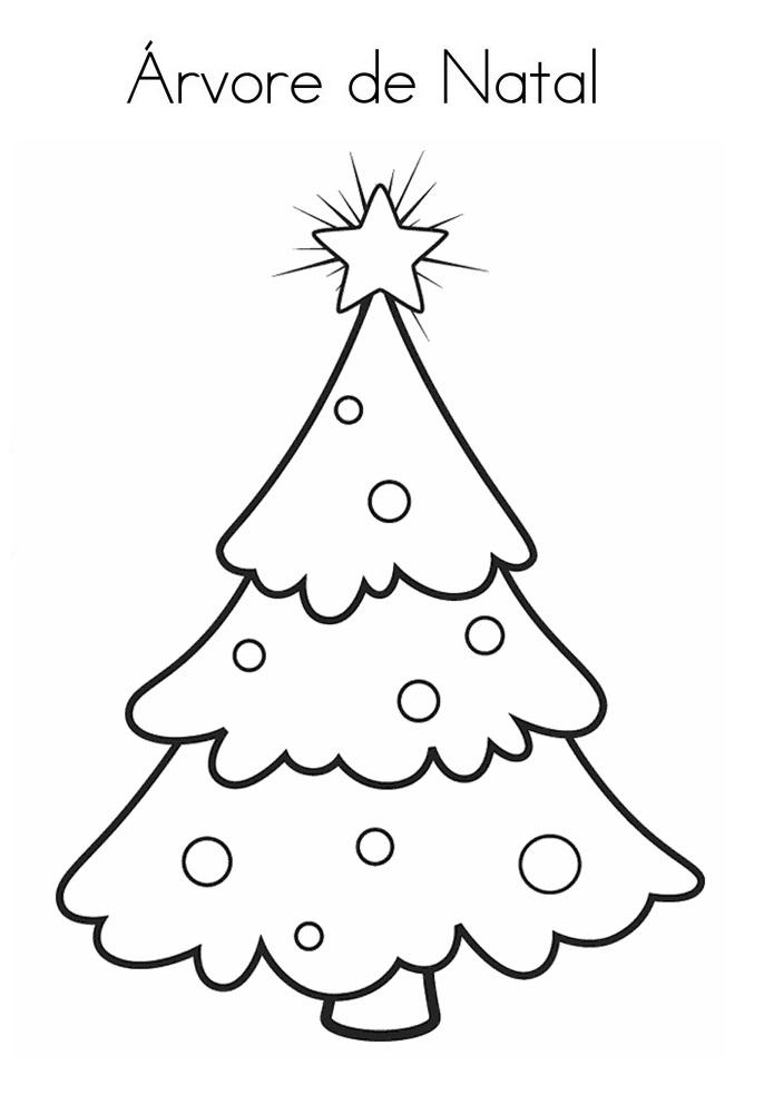 Blog De Geografia árvore De Natal Desenho Para Imprimir E