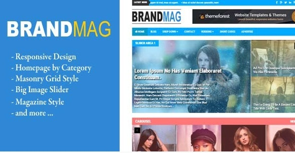 Brand Mag News Blogger Template