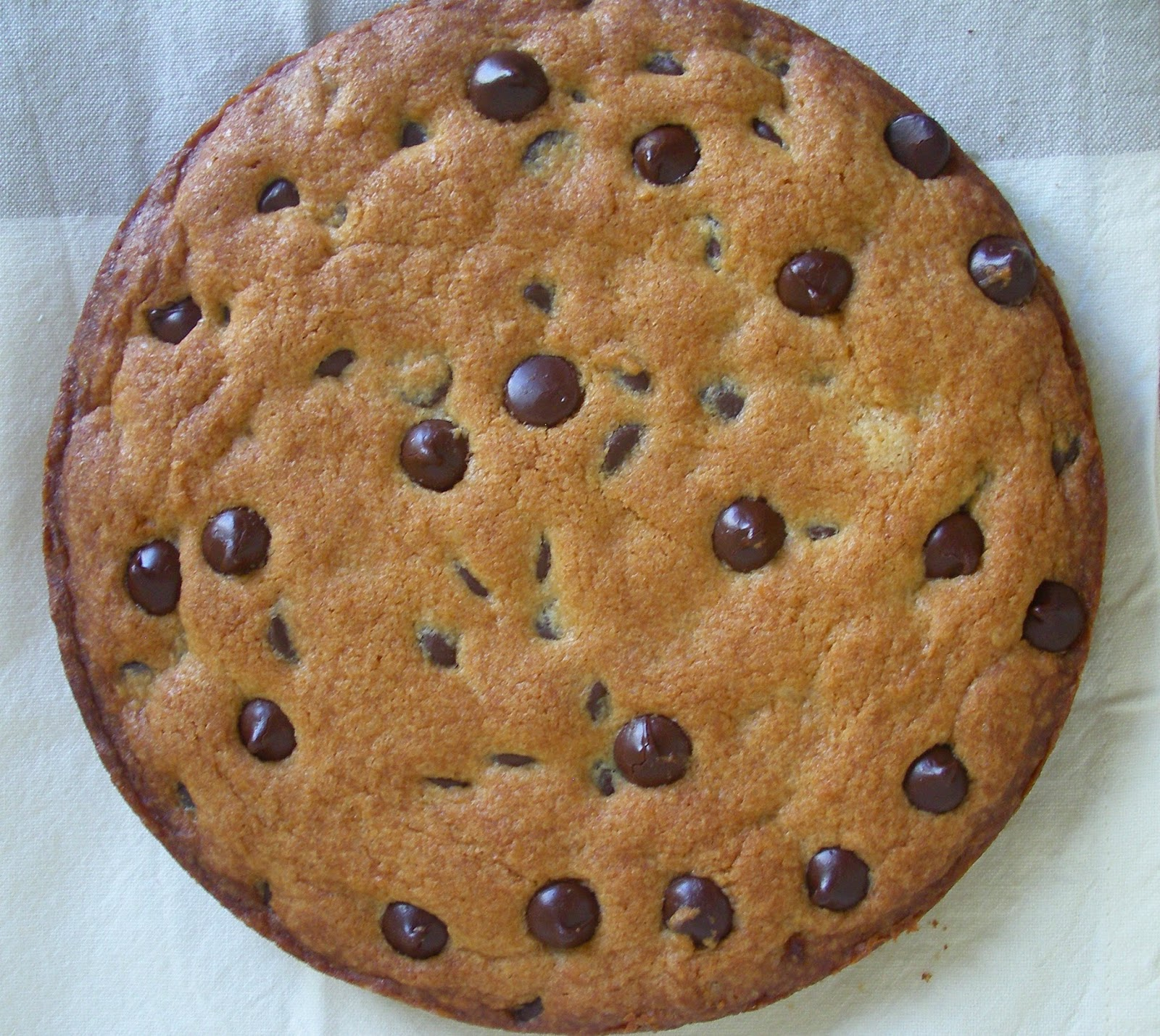 Chocolate chip cookie-cake