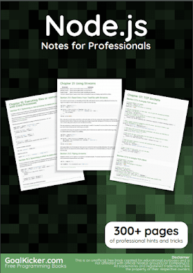 NodeJs pdf book Notes | Free Download