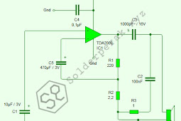 Skematik Rangkaian Power Amplifier Mini TDA2008
