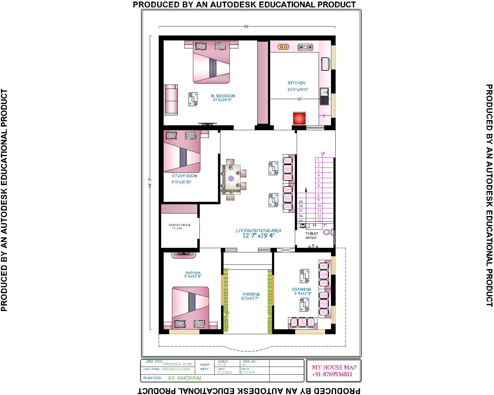 map a house