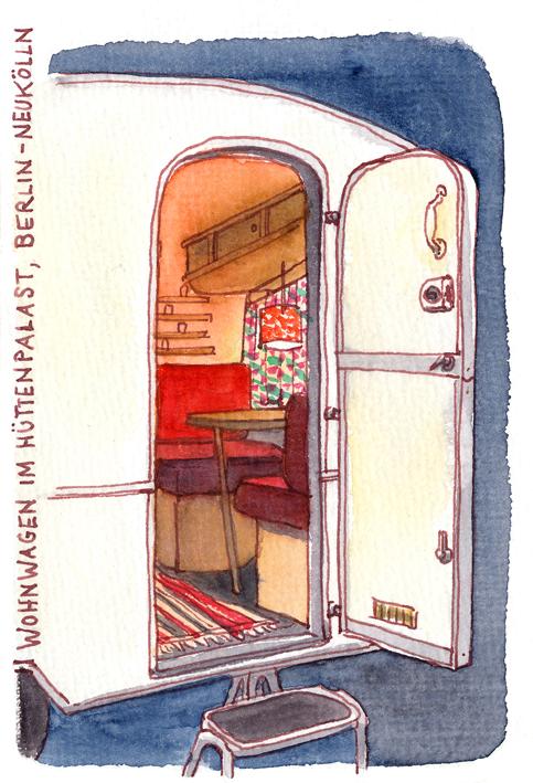 urban sketchers germany der h ttenpalast. Black Bedroom Furniture Sets. Home Design Ideas