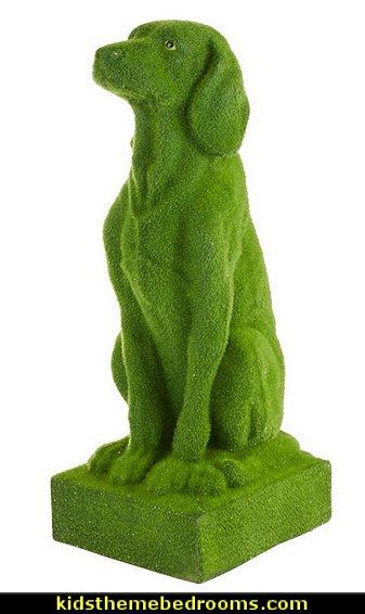 Moss Dog Statue pet gift ideas - garden decor ideas decorating the garden  - decorative garden accents -  Outdoor Decor - garden ornaments  - garden decorations - patio and garden decor -  novelty Yard & Garden decor  - fairy garden - Decorate the Patio - gifts for the home gardener  - Patio Decor - garden patio furniture - faux plants -