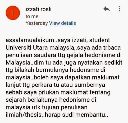 Bermulanya hedonisme di Malaysia