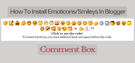 Emoticons/Smileys In Blogger