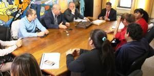 Los abogados de la textil y los referentes del Sindicato del Vestido, ayer en la última sesión de conciliación obligatoria en la Subsecretaria de Trabajo.