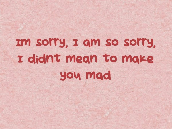 Sorry quotes for him from the heart