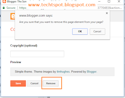 How To Remove Powered By Blogger Attribution 7