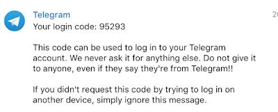 Telegram не приходит смс код
